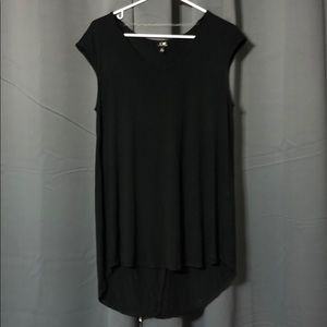 Cable and Gauge Black Flowy Tank
